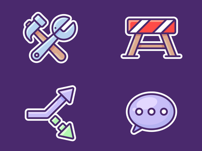 Google Pigeon Icons label sticker sign speak arrows arrow vector illustration design stop bubble tools outline website web app pigeon google icons icon