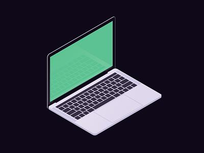 MBP isometric apple computer laptop