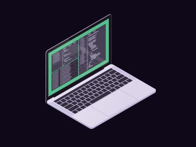 Developer MBP laptop isometric computer apple