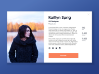 DailyUI #006 — User Profile