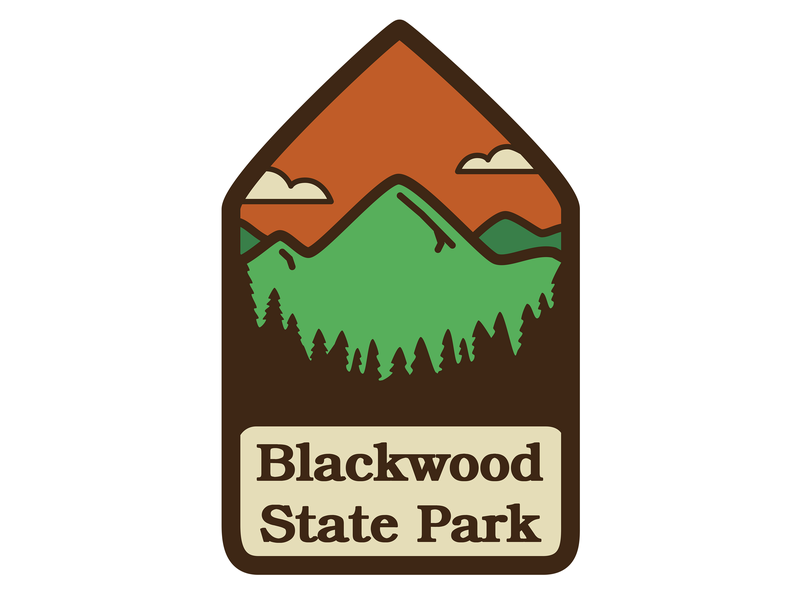 Blackwood State Park Badge vintage inspired vintage vintage badge story telling badge icon branding design logo illustration