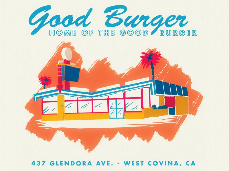 Good Burger Matchbook retro supply co graphic art good burger matchbook illustration vintage inspired vintage