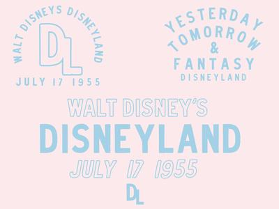 Disneyland Type Lockups