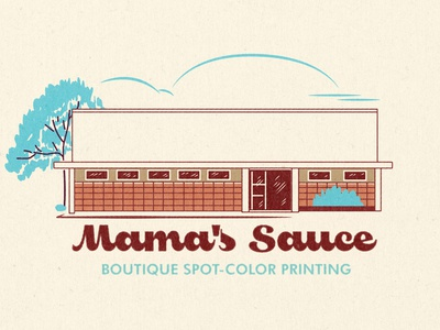Mama's Sauce Matchbook Illustration