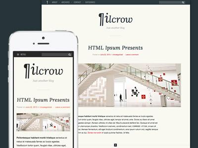 Pilcrow theme blog wordpress web