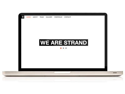 Strand theme web design