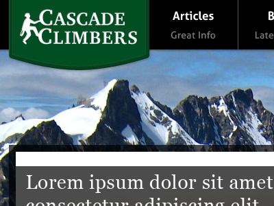 Cascade Climbers concept logo web design