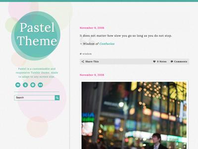 Pastel Tumblr Theme theme tumblr blog pastel