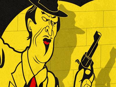 Heist illustration game concept noir
