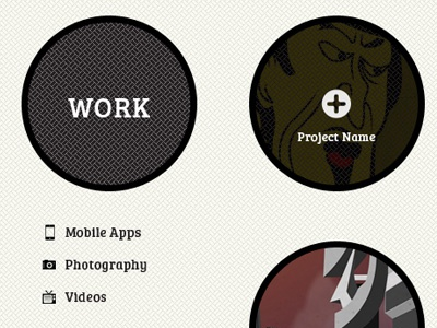 Design in progress web portfolio circles