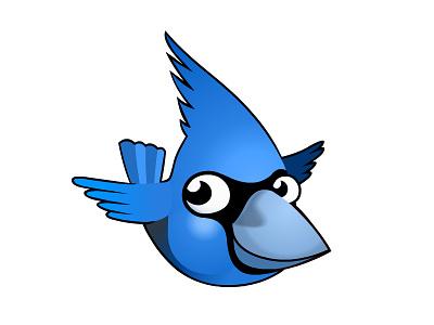 Bird Icon bird icon bluejay vector blue cute illustration