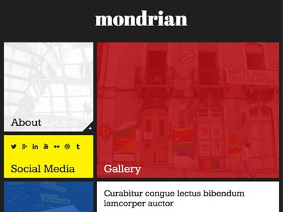 Mondrian mondrian theme web design