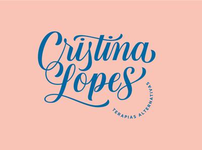 Cristina Lopes Logo vector branding logo design lettering artist graphic design typography lettering