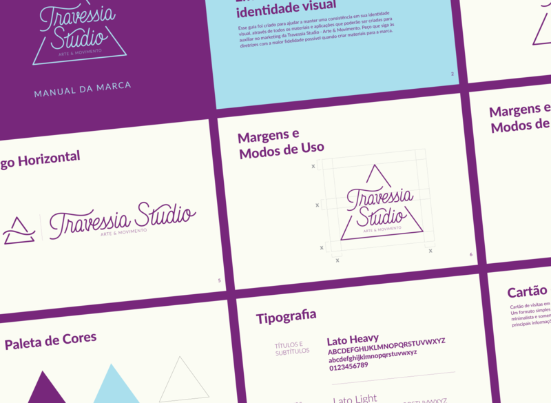 Travessia Studio Branding Guidelines logotype handlettering logo branding vector design lettering artist graphic design typography lettering