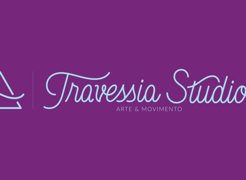 Travessia Studio Horizontal Logo logotype branding vector logo design handlettering lettering artist graphic design lettering typography