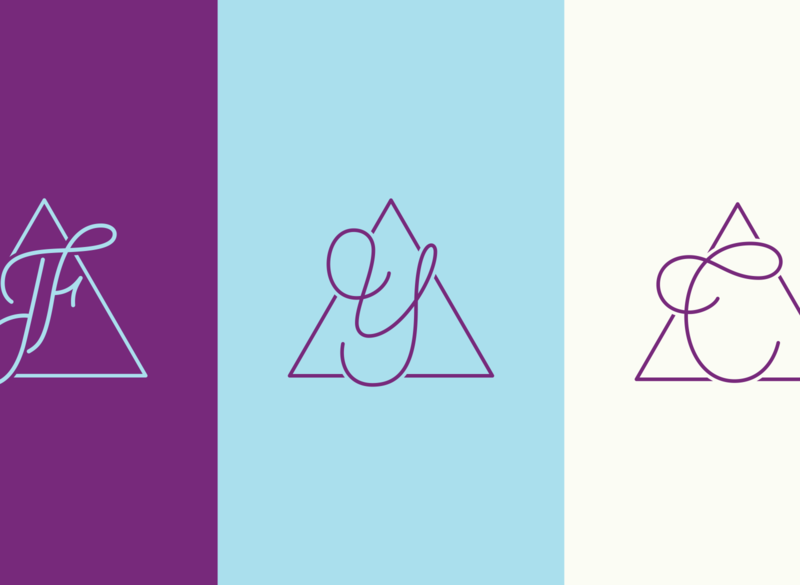 Travessia Studio Monograms logotype logo branding vector design handlettering lettering artist graphic design lettering typography
