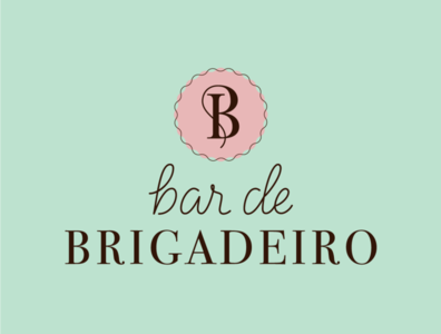 Bar de Brigadeiro branding design monogram design chocolate monogram logotype branding vector logo design lettering artist graphic design lettering typography