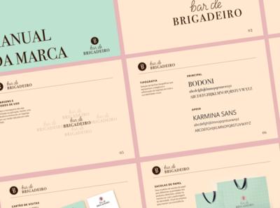 Bar de Brigadeiro Branding Guidelines branding identity monogram branding guidelines logotype branding vector logo design lettering artist graphic design lettering typography