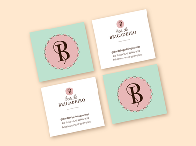 Bar de Brigadeiro Business Cards branding design monogram business card business cards logotype branding vector logo design lettering artist graphic design lettering typography