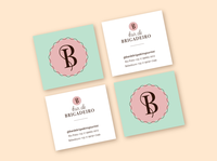 Bar de Brigadeiro Business Cards branding design monogram business card business cards logotype branding vector logo design lettering artist graphic design lettering typography