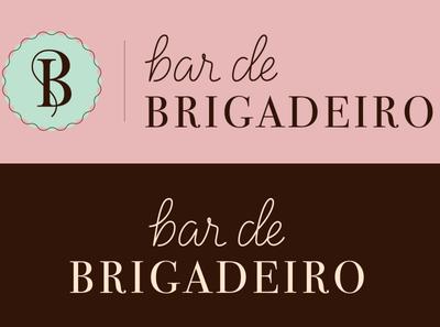 Bar de Brigadeiro Horizontal Logotype chocolate branding design monogram horizontal logo logotype branding logo vector design lettering artist graphic design lettering typography