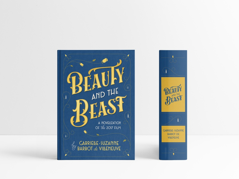 Beauty And The Beast - Book Cover lettering artist illustration typography beauty and the beast beauty cover book lettering