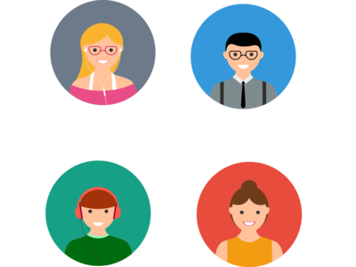 Flat avatar icons