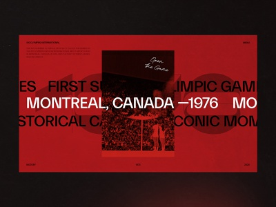 1976 Summer Olympics - Montréal animation web grid typography interaction concept minimal ux ui design