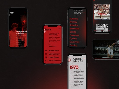 1976 Summer Olympics - Montréal behance interaction black grid typography mobile web ui ux minimal design