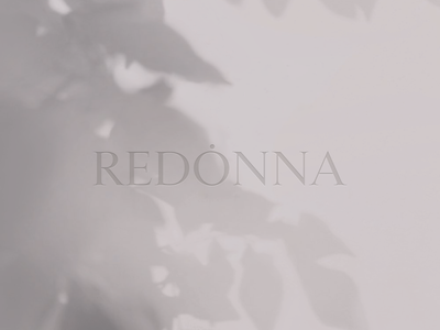 Redonna Logo Design logotype idea branding web beauty design logo design fashion light minimal typography logo
