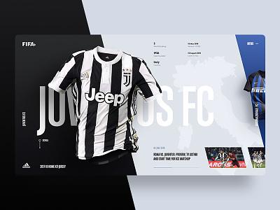 Juve Jersey Home Kit fifa design web soccer ui ux grid color jersey minimal sport 2018