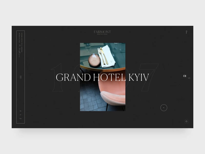 Fairmont Hotel - Home Page Animation branding animation interaction typography ux ui minimal
