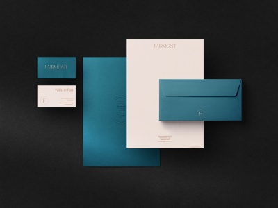 Fairmont Hotel - Brand Elements color identity flat branding logo illustration typography minimal design