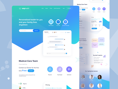 Health Landing page sass sass website healthcare app nutrition physician medicine hospital clinical diet health education healthcare health dashboard patients doctors medical care team health website medical website doctor app health web health leading web