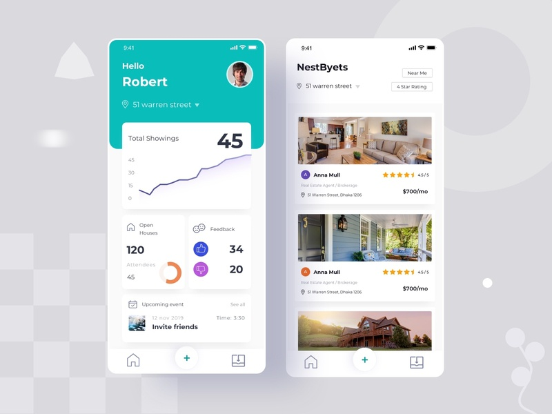 Real Estate App real estate branding startup sell booking filter location rent property buy statistics apartment house real estate dashboard home app dashboard real estate website real estate app real estate logo real estate agent real estate