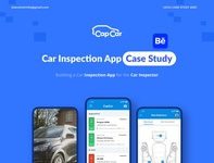 CaseStudy  I  Car Inspection App 2020 blues carapp brand design landingpage web case study blue canera ux illustration dashboard vehicles case studies car inspection app behance identity design design thinking user experience ux design case study