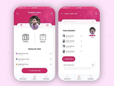 Task management App daily report wunderlist app profile user friendly app ux ui ios task management