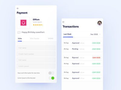 Payment & Transitions