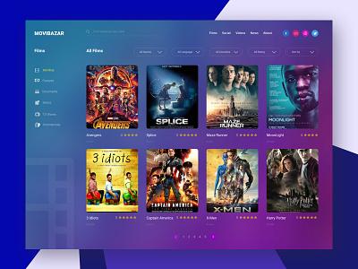 Movie website I MovieBazar film and tv movie dashboard tv show landing page film film website drama cinema movie website