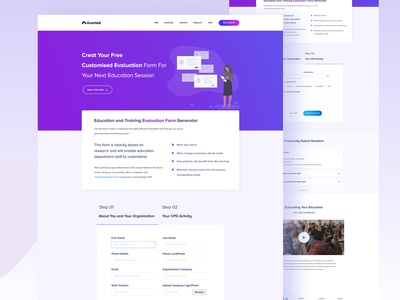 Evaluation Form  I  Landing Page