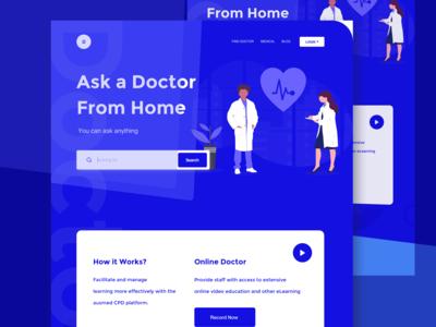 Medical health landing page