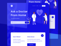 Medical health landing page