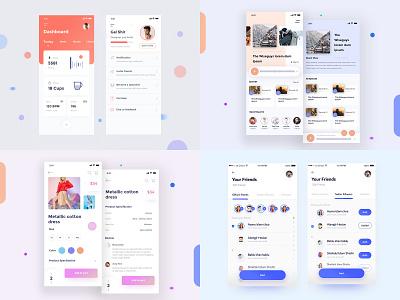 Shishir best 2018 best illustration blue dribble review ecommerc eco bank app ui ios app best designs