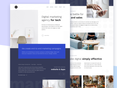 Digital marketing agency home page