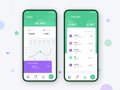 Money expense app finance app dashboard expense income add money green design management app management ios bank app banking app money transfer money management monthly graph graph design daily expense app money app wallet app money expense app expense app
