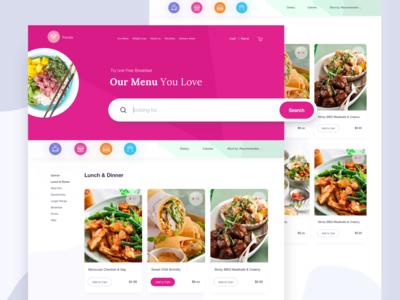 Food Delivery Website I Menu