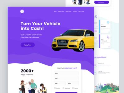 Vehicle Loan Landing page