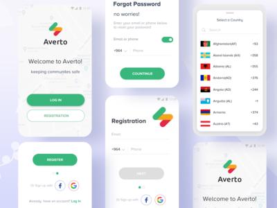 Login & Registration Process : Averto App