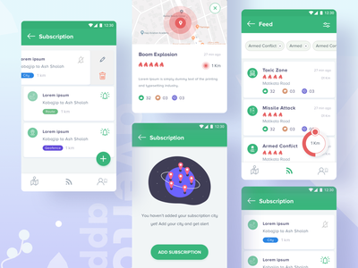 Subscription Process : Averto App illustration notification filter danger destination safety terrorist armed forces area app subscription area security app geofence route map redious feed design feed subscription box subscribe form subscription