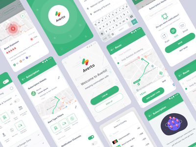 Safety App for Life-threatening Dangers armed force illustration ios destination push notification radius boom explosion route notification filter alert app location app map view country materialdesign splash login page subscription safety safety app